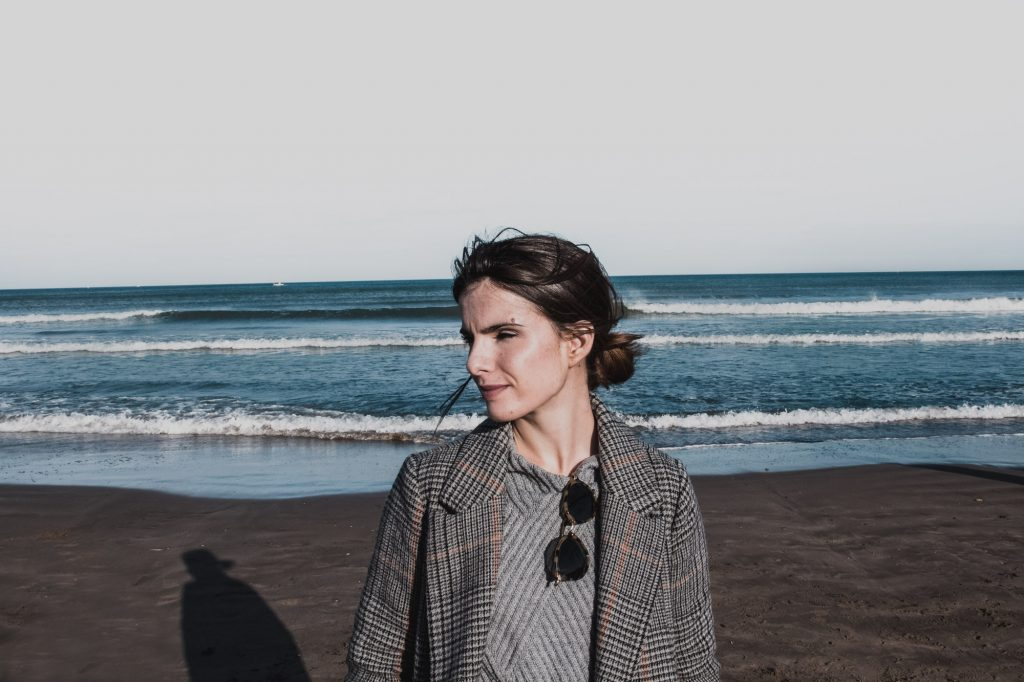 Mélanie à la plage Valence espagne