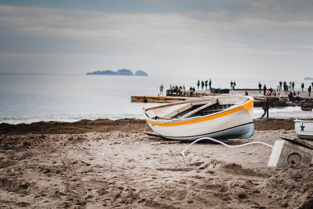 petit bateau de pecheur à positano